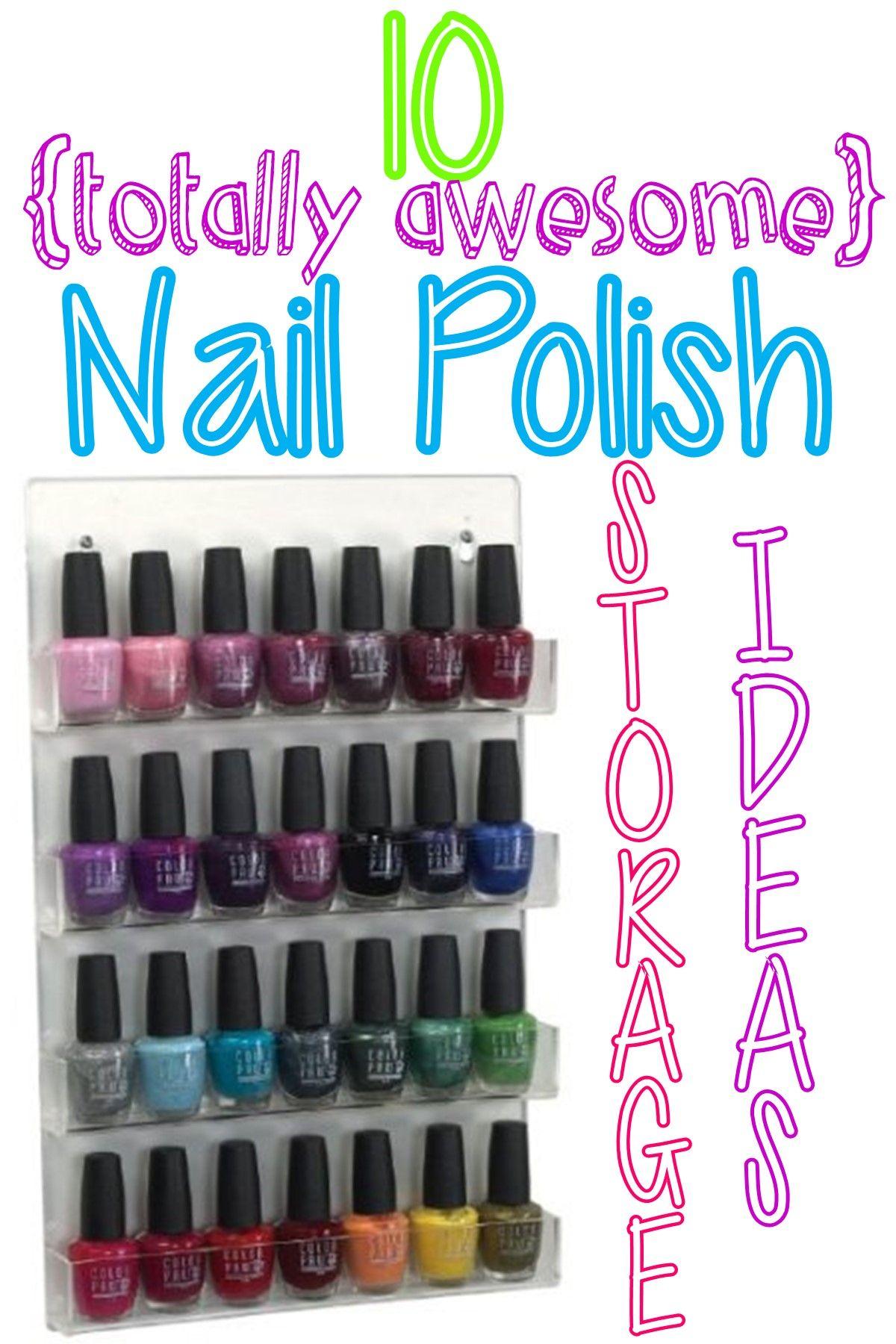 10+Nail+Polish+Storage+Solutions