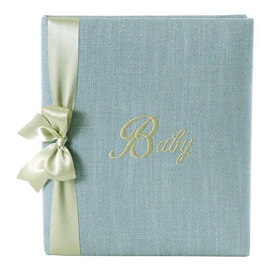 Blue Linen Baby Personalized Book