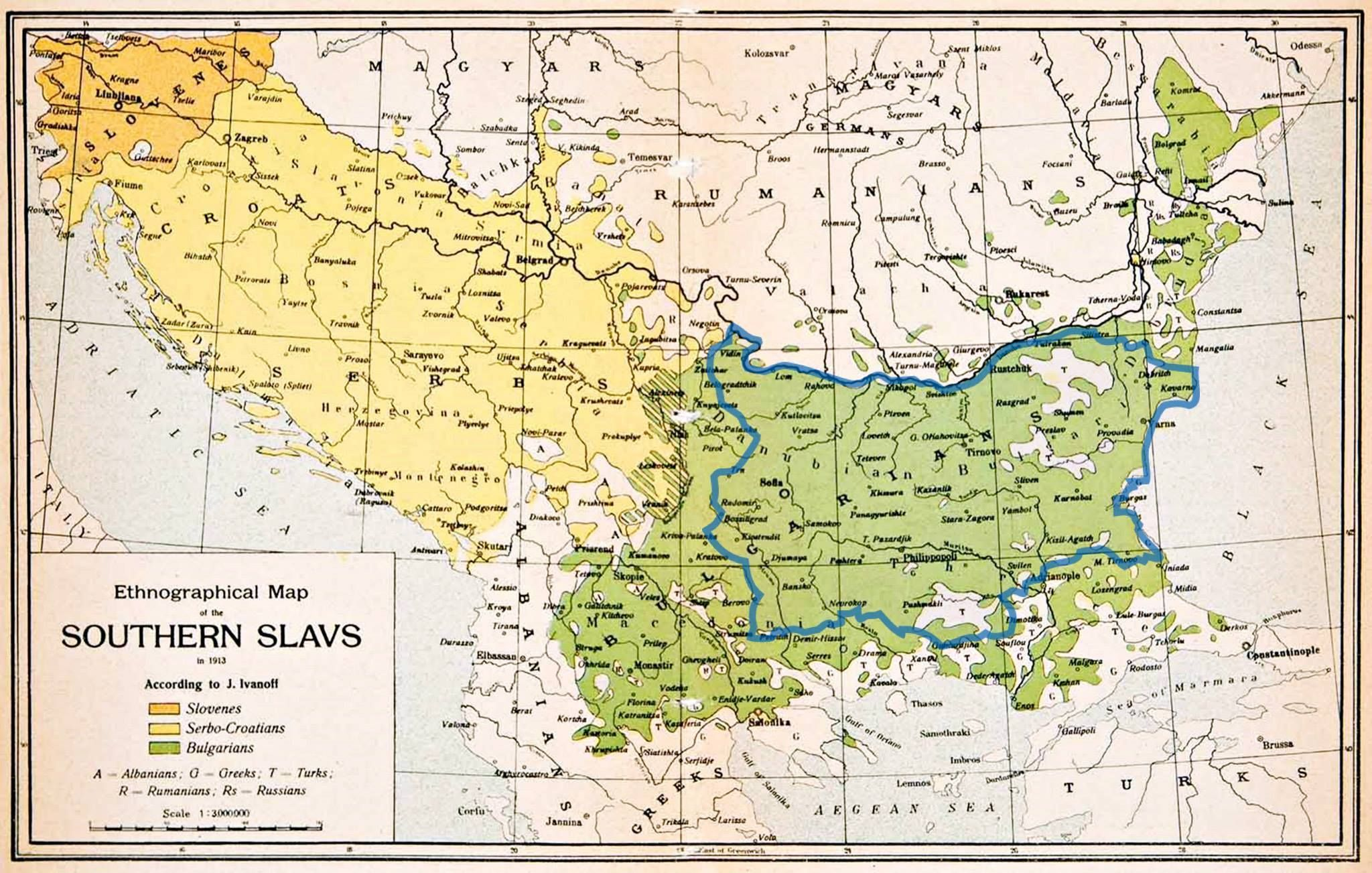 Etnografska Karta Na Balkanskiya P V Ot 1913g Sravnena S Dneshnite