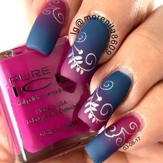 """Isn't this a gorgeous gradient combo? #naillovers #diseñodeuñas #esmalte #stamping #nailartwow…"""
