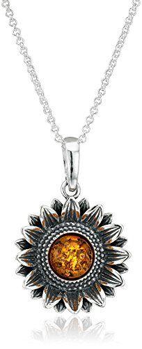 Amber sterling silver sunflower pendant necklace 18 you can find amber sterling silver sunflower pendant necklace 18 you can find more details by visiting the aloadofball Gallery