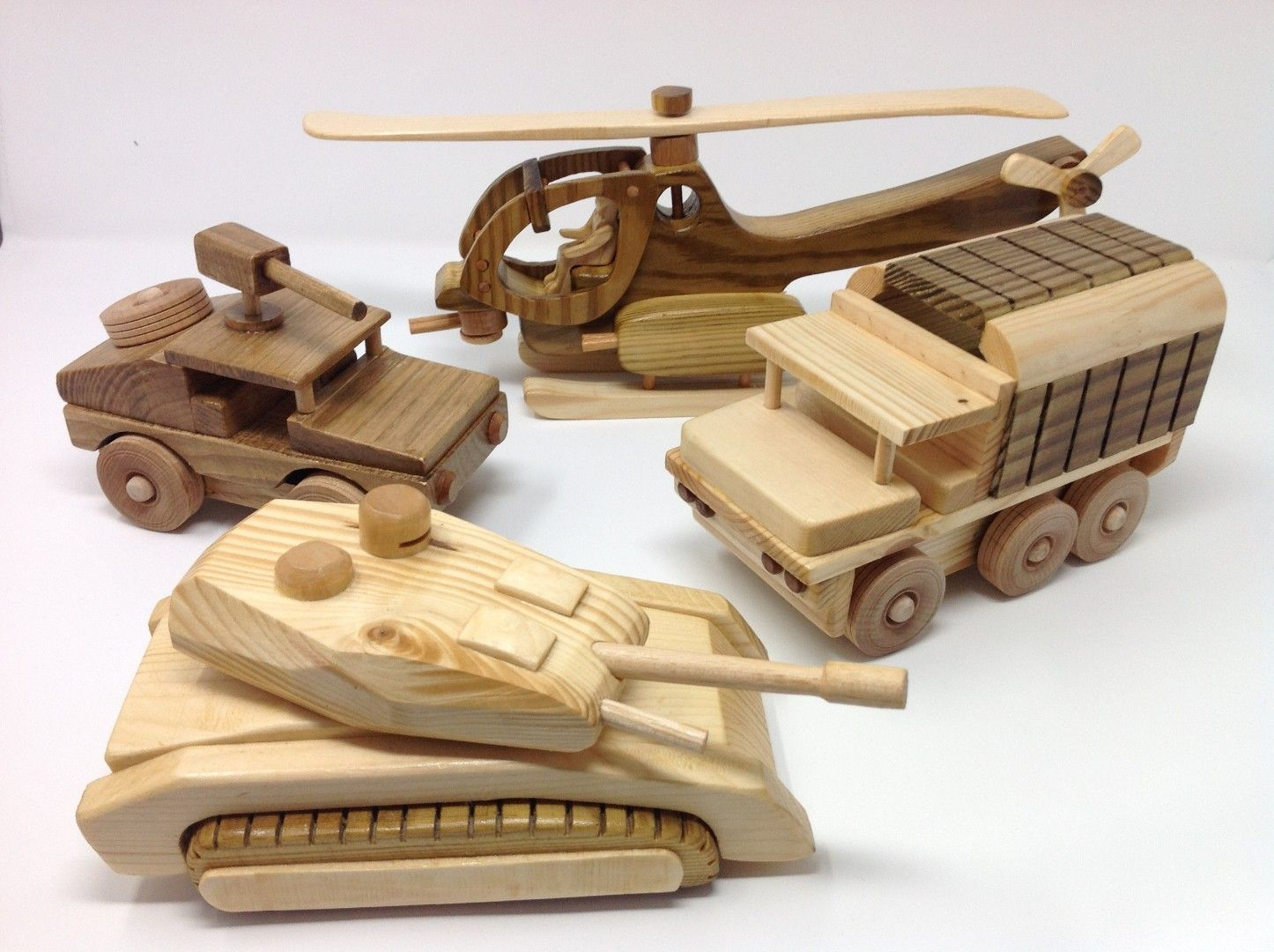 set of 4 army vehicles, helicopter plan from here & 3 custom