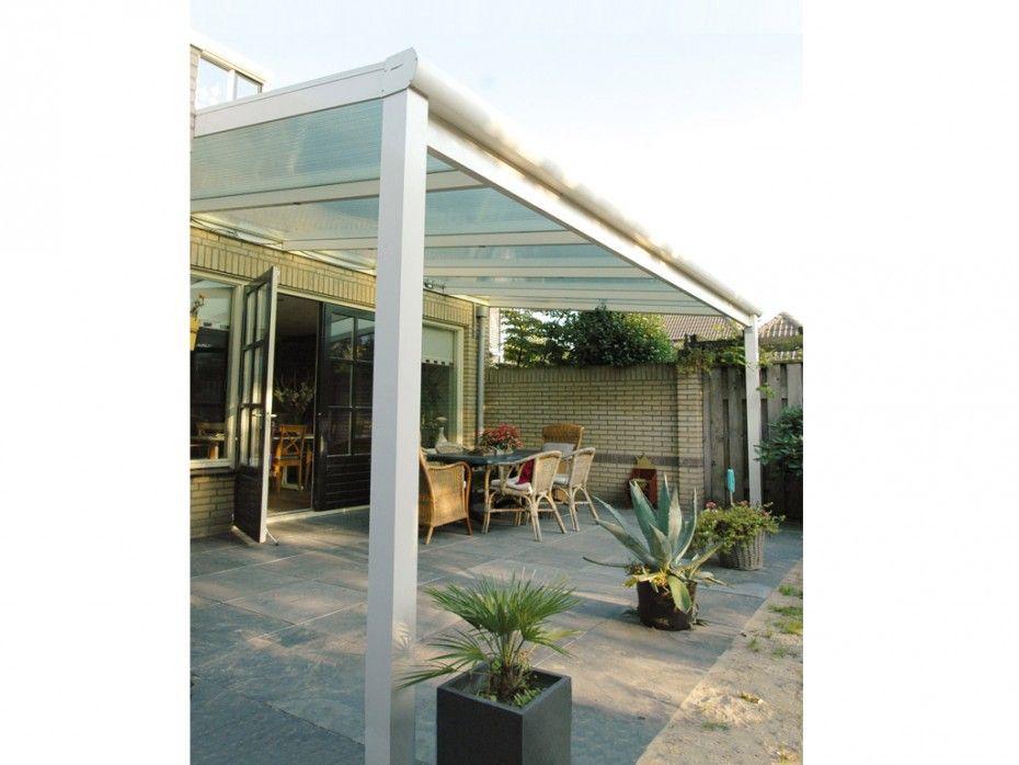 Terrassenüberdachung Pergola Aluminium Estella Weiß 4x3