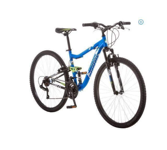 Men S 27 5 Mountain Bike Xl Deep Black Cycling Mongoose Ledge