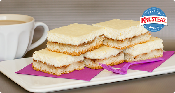 Cinnamon Swirl Cheesecake Bars | Krusteaz