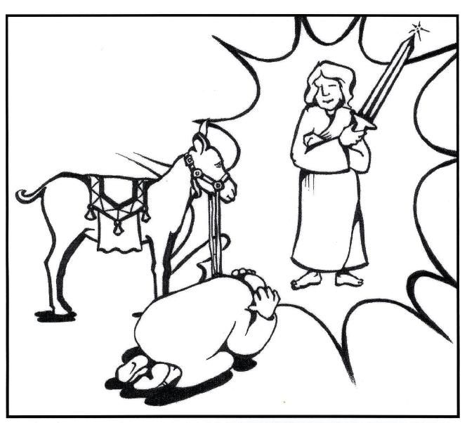 coloring pages balaams donkey - photo#12