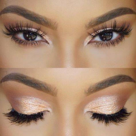 joli maquillage yeux marrons en amande maquillage en