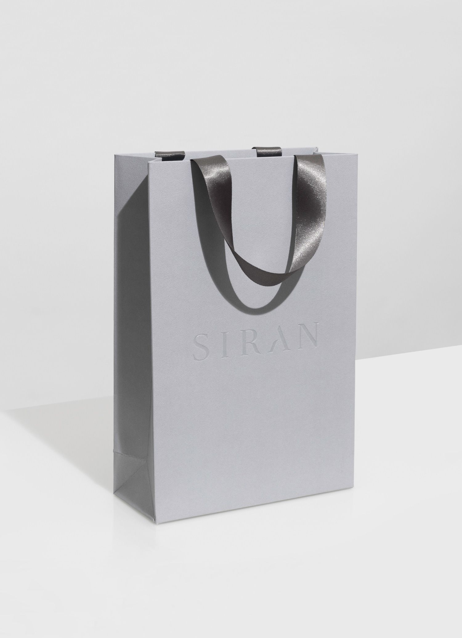 Progress Packaging Siran Boutique Bag Luxury Fashion Womans Grey