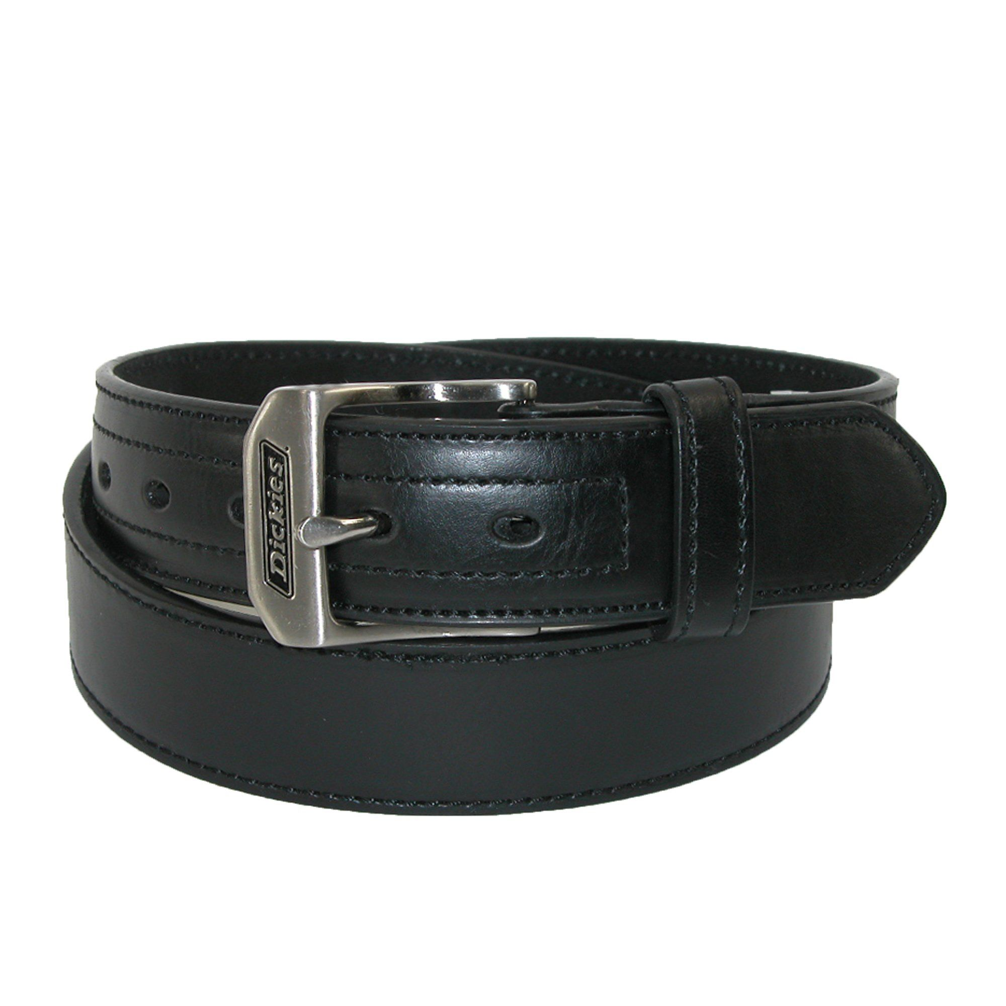 Dickies Men's Leather Logo Buckle Industrial Strength Work