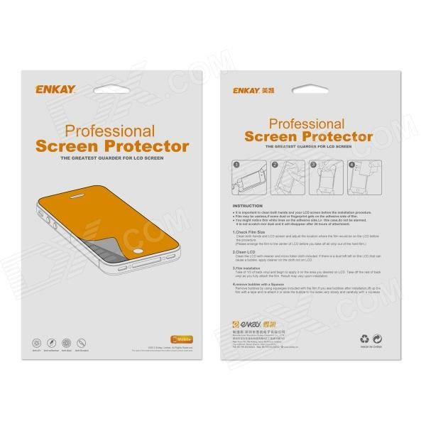 ENKAY High Clear HD Front Screen + Back Skin PET Protector Protective Film Guard for Iphone 5S