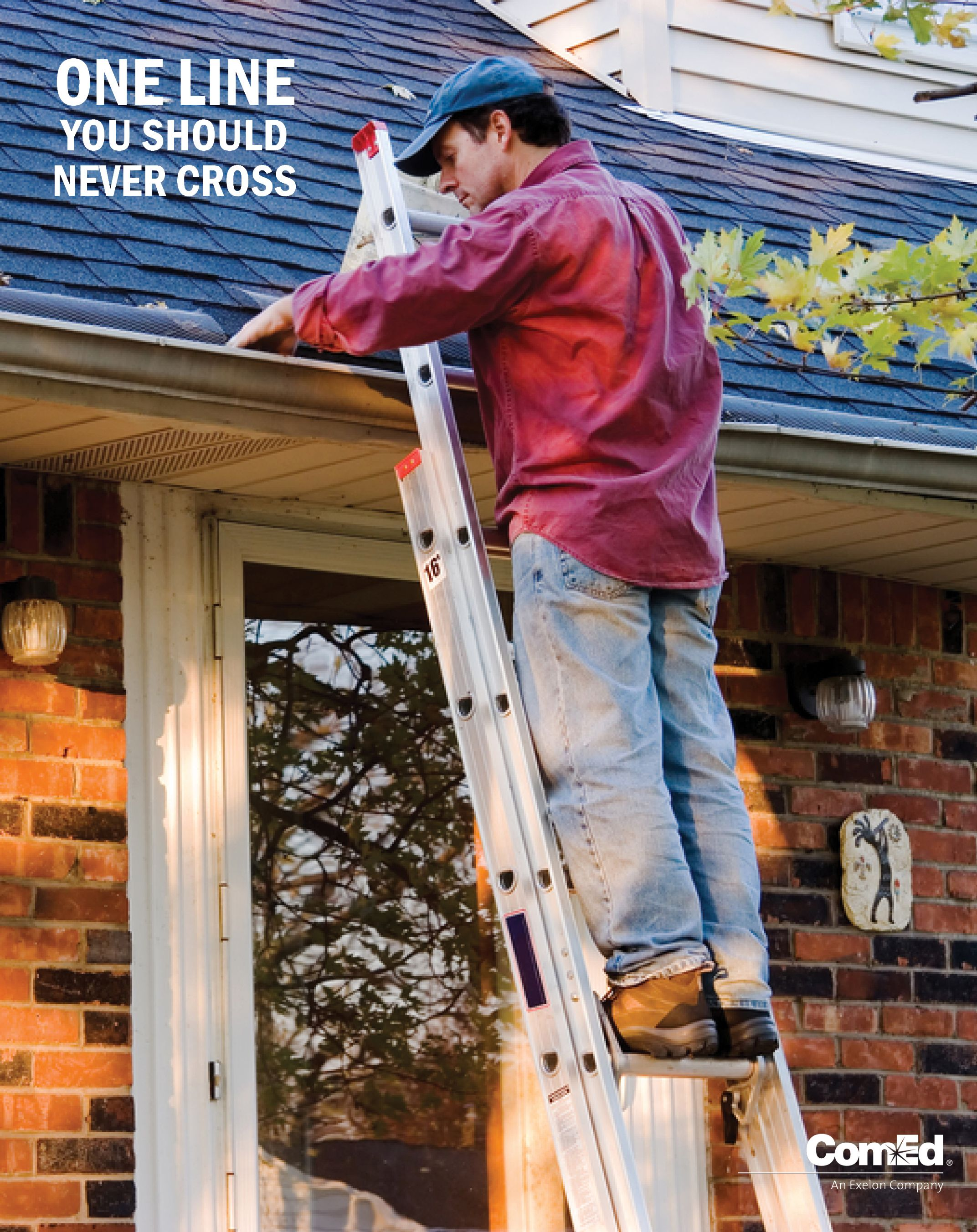 Use Caution Around Power Lines When Working On Or Around Your Roof Installing Rooftop Antennas And Satellite Dishes Do Roof Maintenance Cleaning Gutters Roof