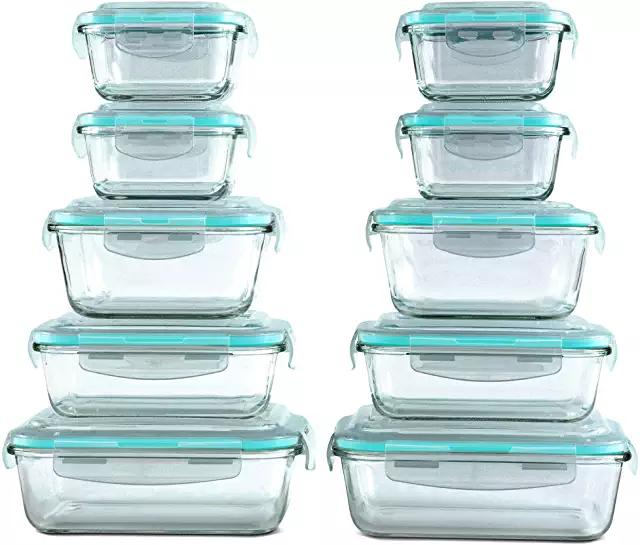 Amazon Com Tupperware Set Glass Food Storage Glass Food