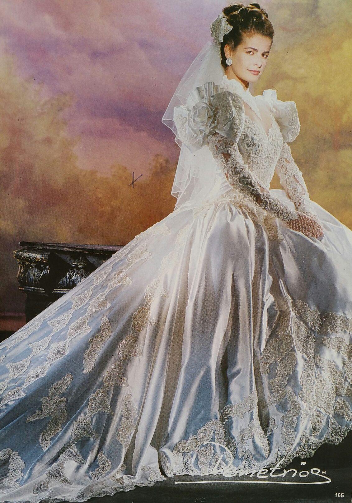 Demetrios 1992 1993 Gorgeous Wedding Dress Wedding Gowns Vintage Wedding Dresses [ 1618 x 1131 Pixel ]