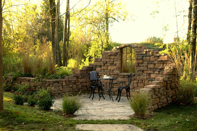 Belvedere Walls decorate this beautiful patio. | Landscaping ...
