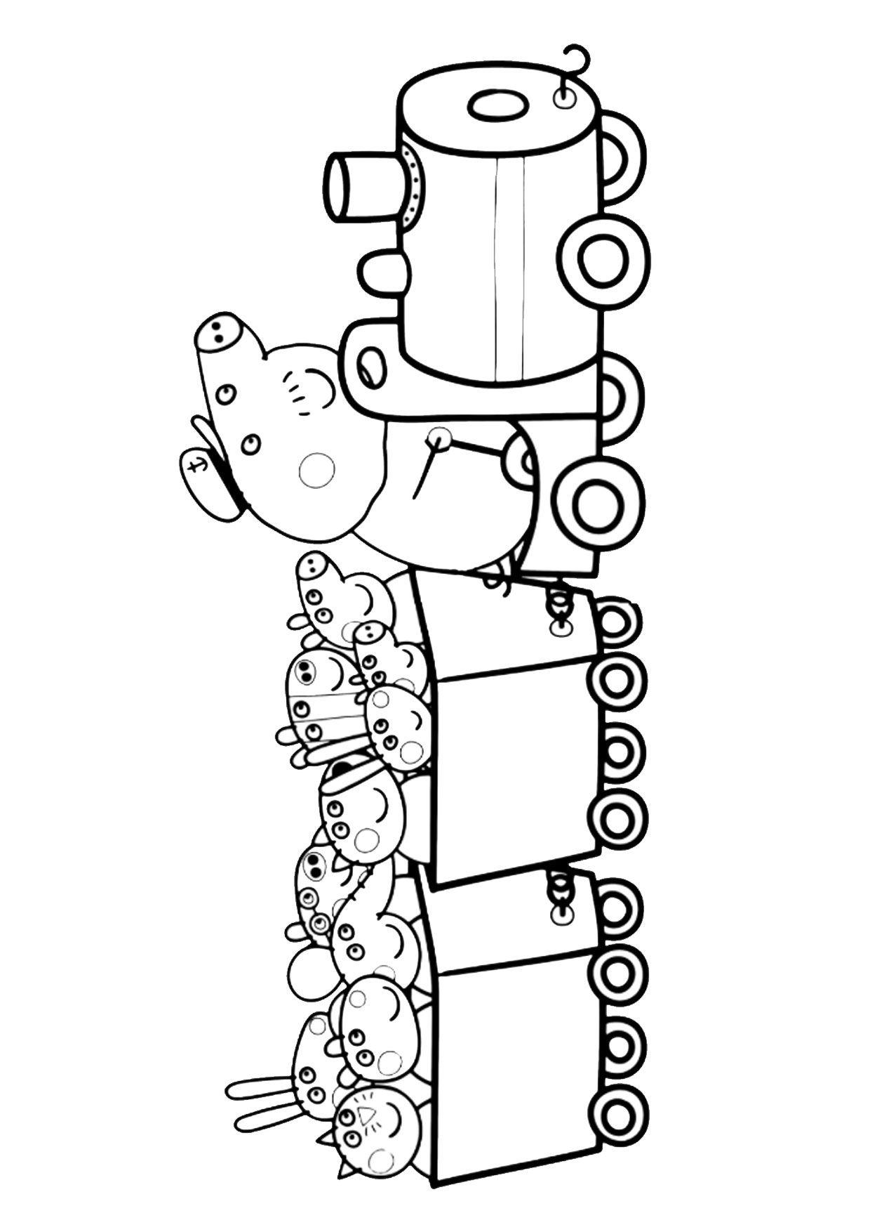 54 Disegni Di Peppa Pig Da Colorare