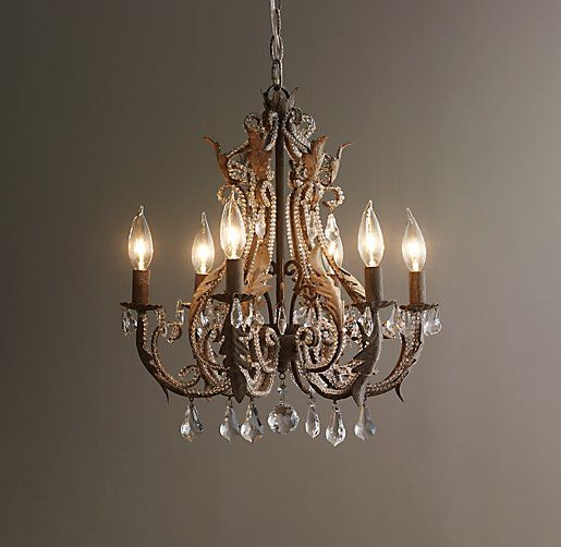 Palais Small Chandelier Aged Metal | Home Reno - Dining Room ...