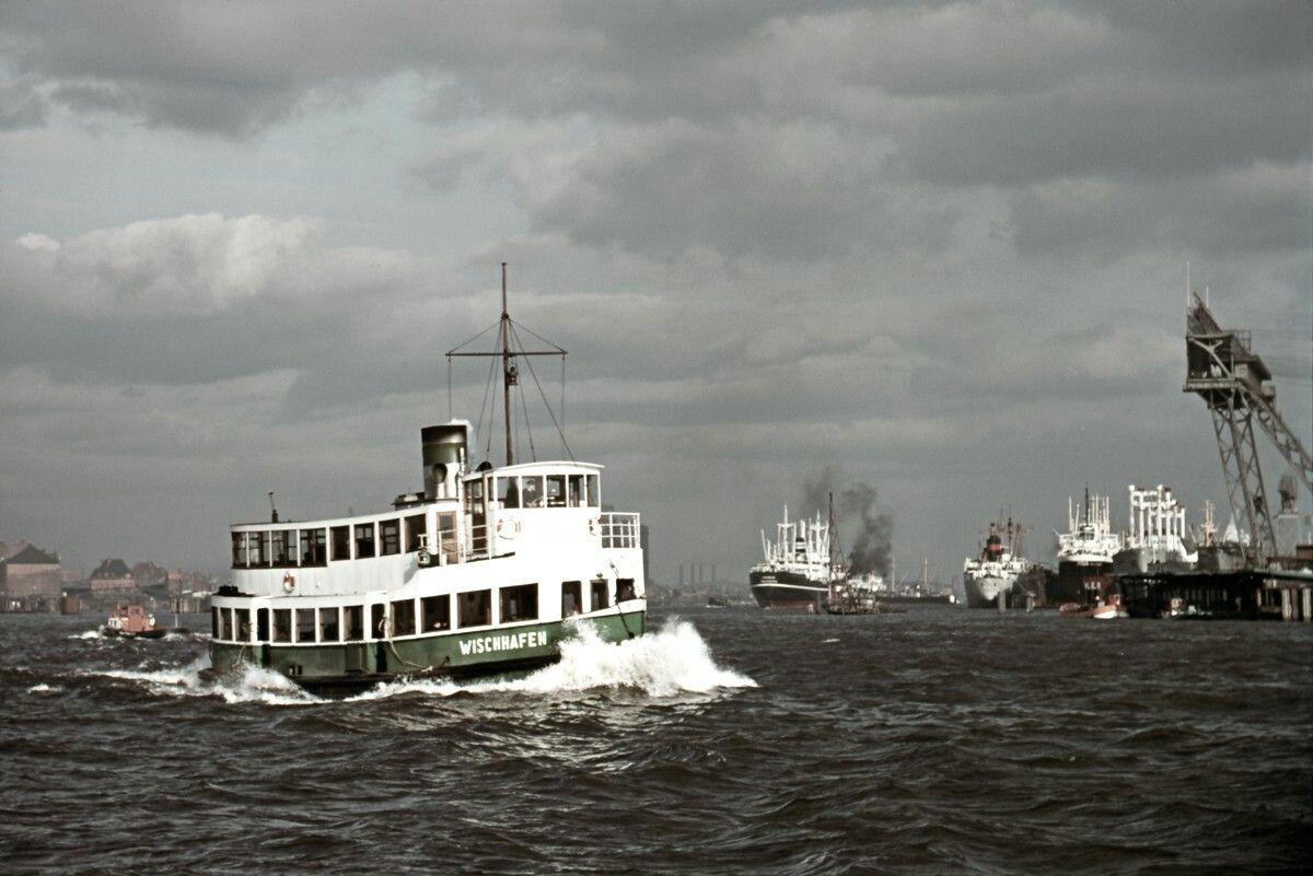 Hadag Fahre Wischhafen Auf Der Elbe Foto Voss Hamburg Geschichte