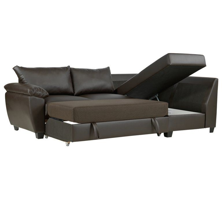 Buy Argos Home Fernando Right Corner Sofa Bed Dark Brown Sofa Beds Corner Sofa Sofa Dark Brown Sofas