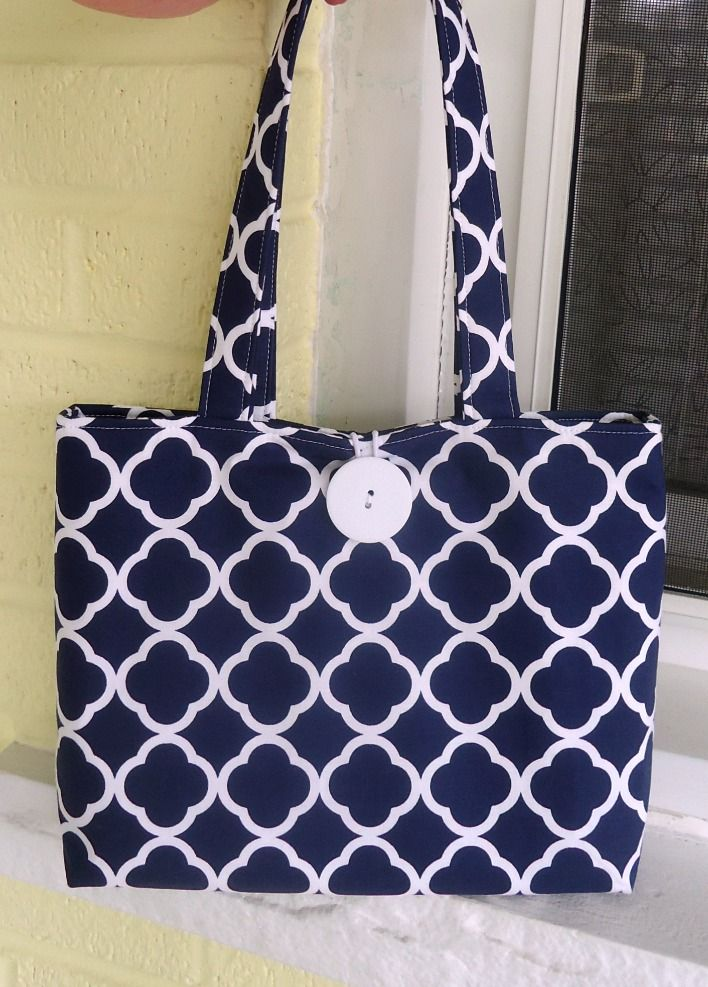 9f940d80c1d Preppy Navy and White Purse for Summer by Sweet Pea Purse Company on Etsy -  I took this one for myself, but I can make a few more.