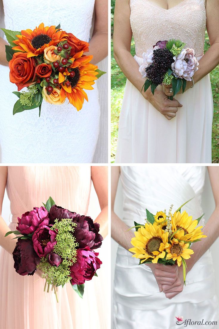 Get gorgeous pre-made silk flower bouquets at afloral.com | Bridal ...