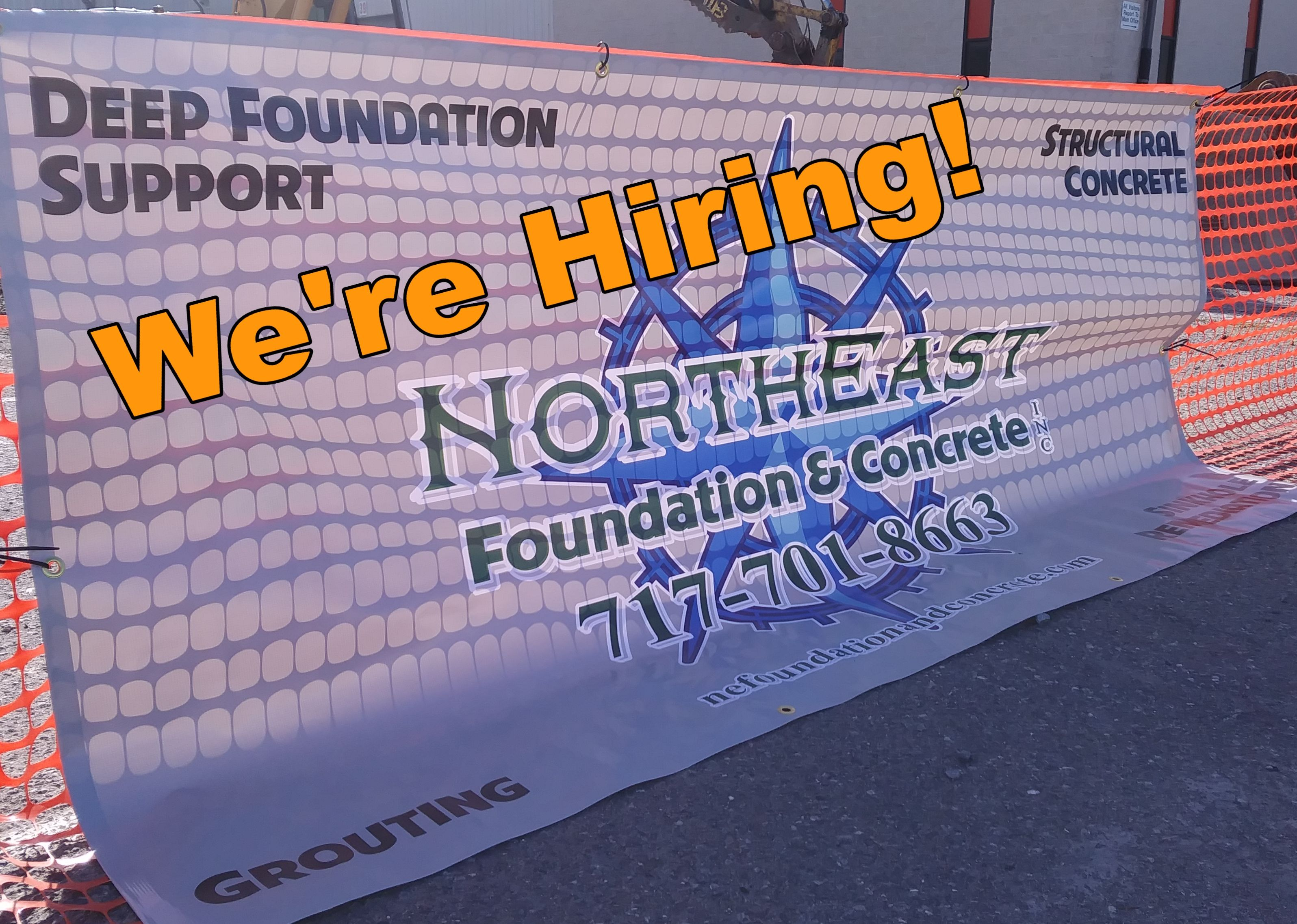 Northeast Foundation Concrete Inc Is Searching For Motivated Individuals To Join Our Team Out Of Ce Foundation Repair Aesthetic Solutions Types Of Concrete