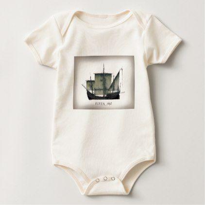 1492 Pinta tony fernandes Baby Bodysuit - artists unique special customize presents