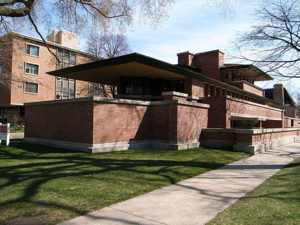 Frank Lloyd Wright Prairie Style frederick c. robie house. 1909. hyde park, chicago, illinois