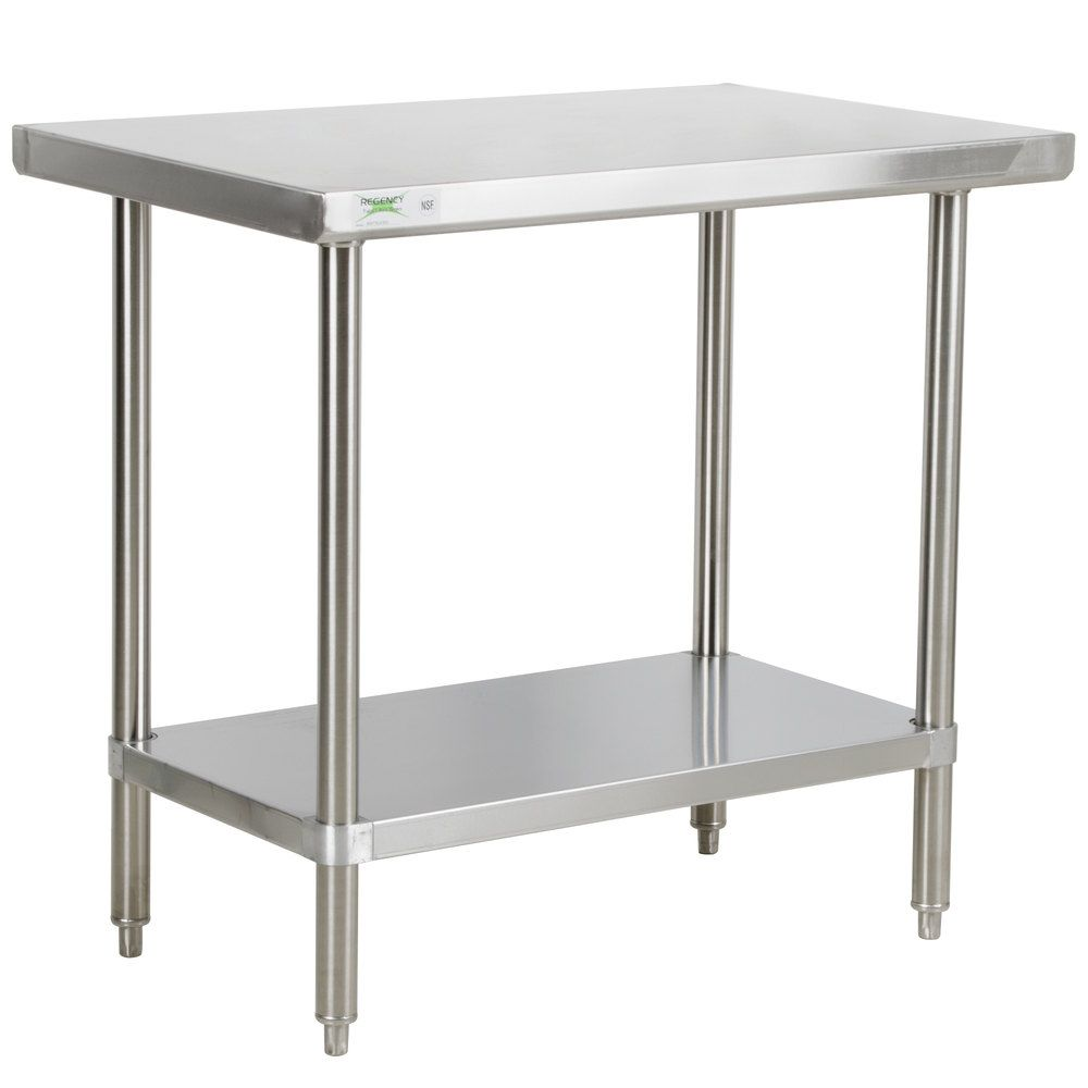 Regency X Gauge Stainless Steel Commercial Work Table - 6ft stainless steel table