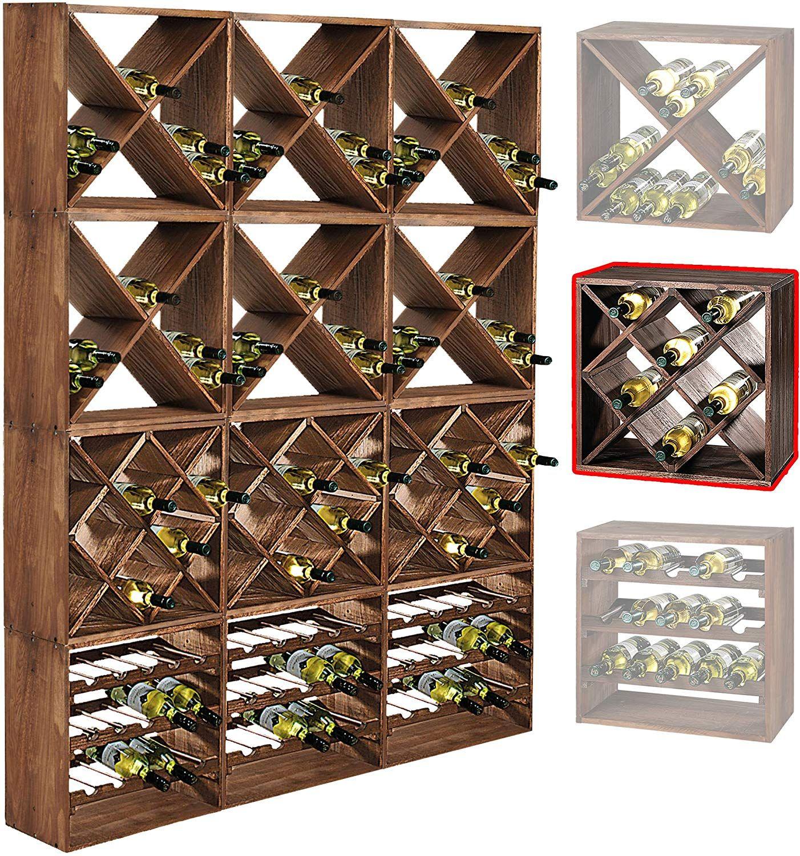 Cantinetta / scaffale per vino / sistema CUBE 50, legno ...