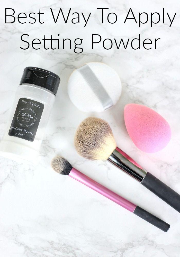 Best Way To Apply Setting Powder