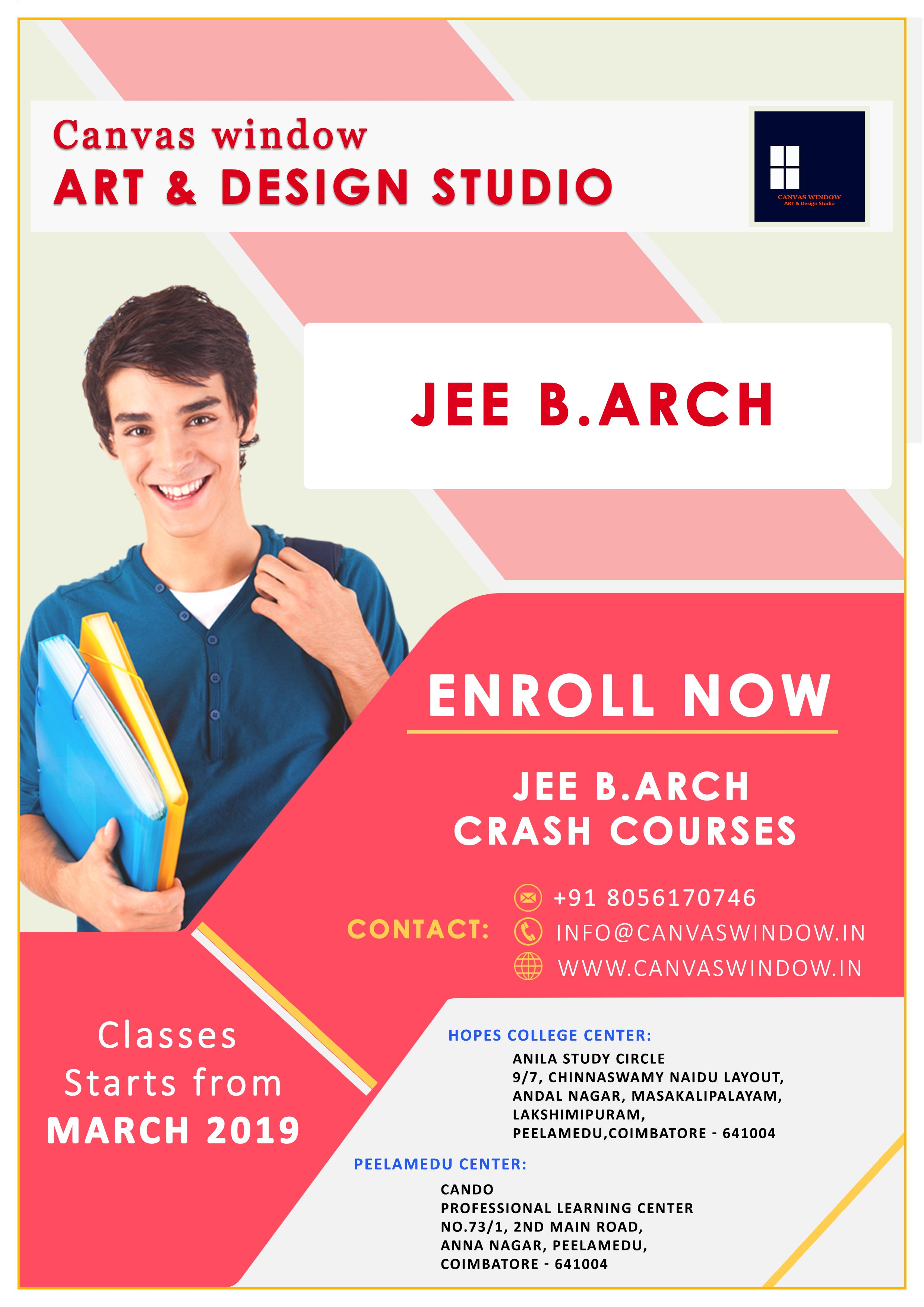 Jee Barch Coaching Centre In Coimbatore Class Poster Design Education Poster Design Class Poster