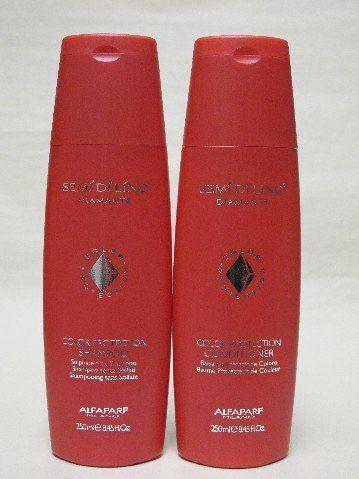 Alfaparf Semi Di Lino Diamante Color Protection Shampoo & Conditioner. GREAT FOR COLOR CARE!