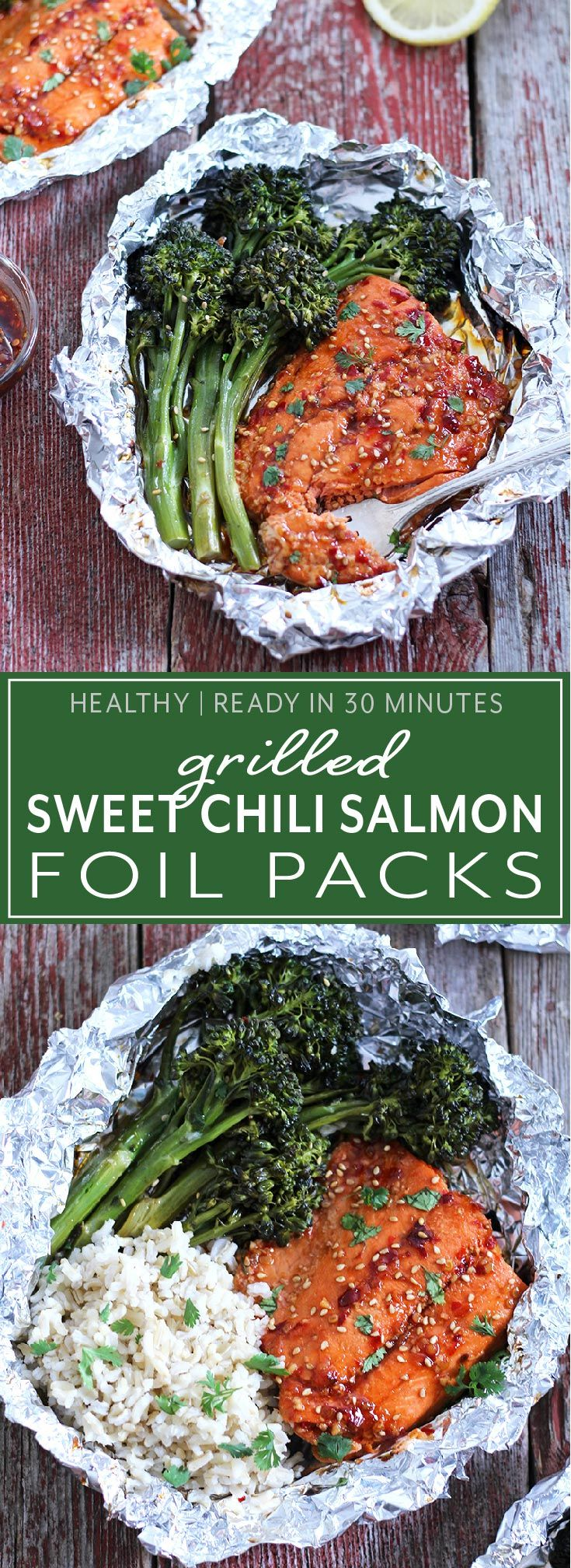 Photo of Grilled Sweet Chili Salmon Foil Packs | Modern Farmhouse Eats