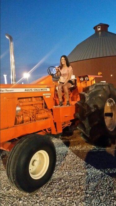 tractors Old girls farm