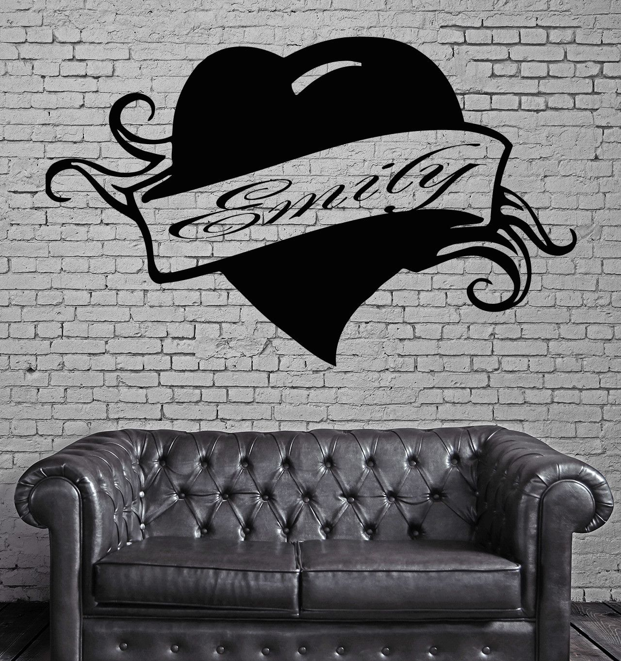 emily personalized name lettering custom wall art decor vinyl sticker z981