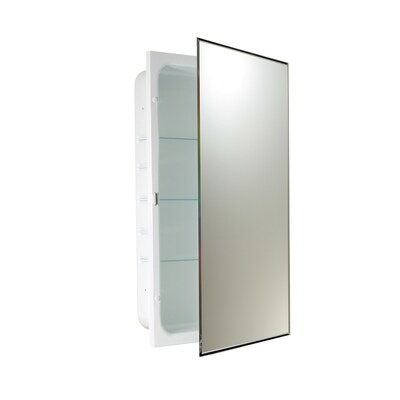 Allen Roth 16 In X 26 In Rectangle Recessed Mirrored Medicine Cabinet Lowes Com In 2020 Recessed Medicine Cabinet Recessed Medicine Cabinet Mirror Medicine Cabinet Mirror
