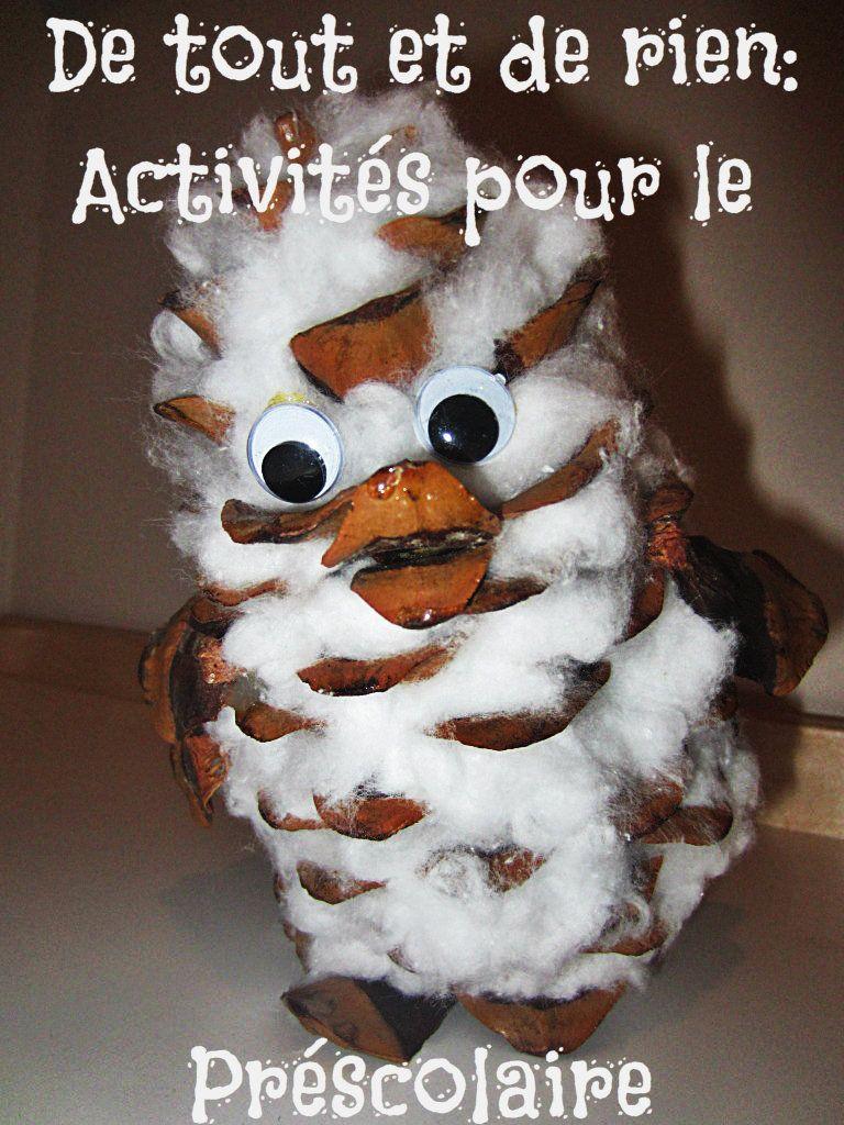En Tout Et Pour Tout : Rien:, Activités, Préscolaire:, Hibou, Cocotte., Preschool, Crafts,, Crafts