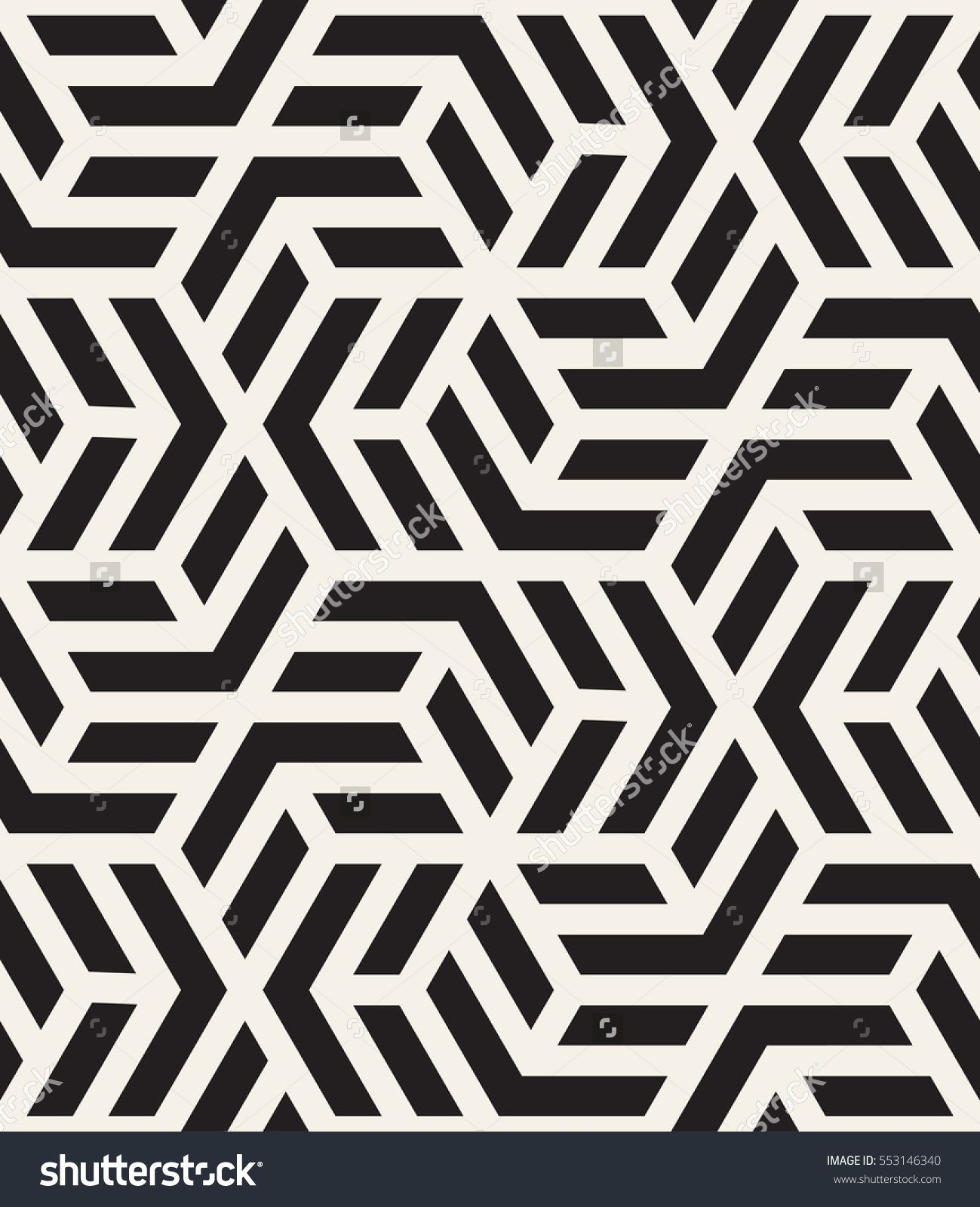 Vector Seamless Pattern With Chevron Modern Geometric Texture Repeating Abstract Background Polygonal Grid Geometric Textures Polygon Pattern Tattoo Pattern
