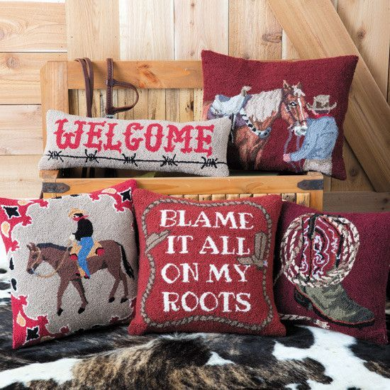 Round The Campfire Hooked Pillow Collection in 2018 Art Home