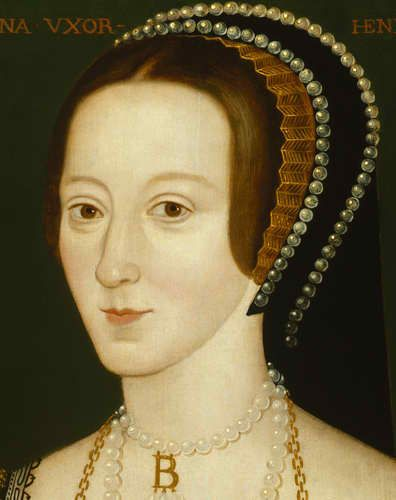 Anne Boleyn, second wife of King Henry VIII, whose motto was 'The Most Happy'
