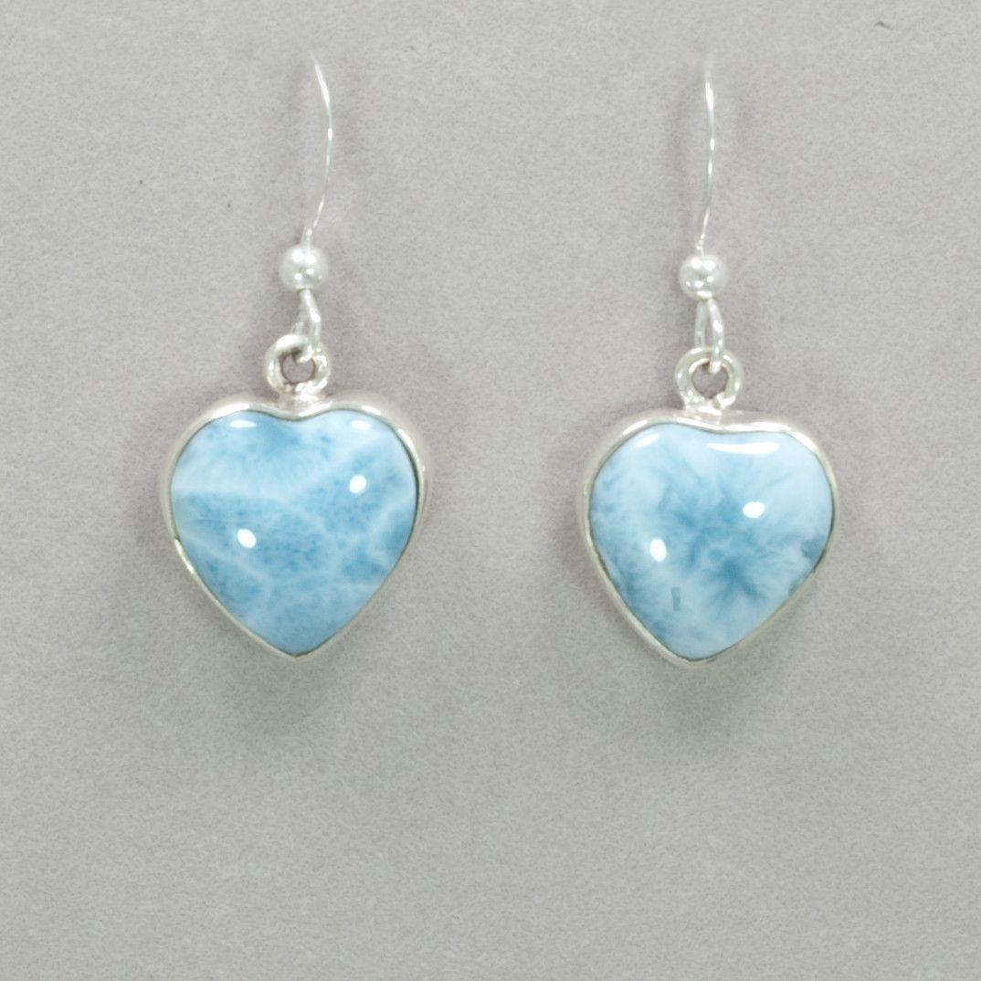 bff00749d Larimar Heart Earrings Rainbow Bridge, White Patterns, Heart Earrings,  Heart Pendants, The
