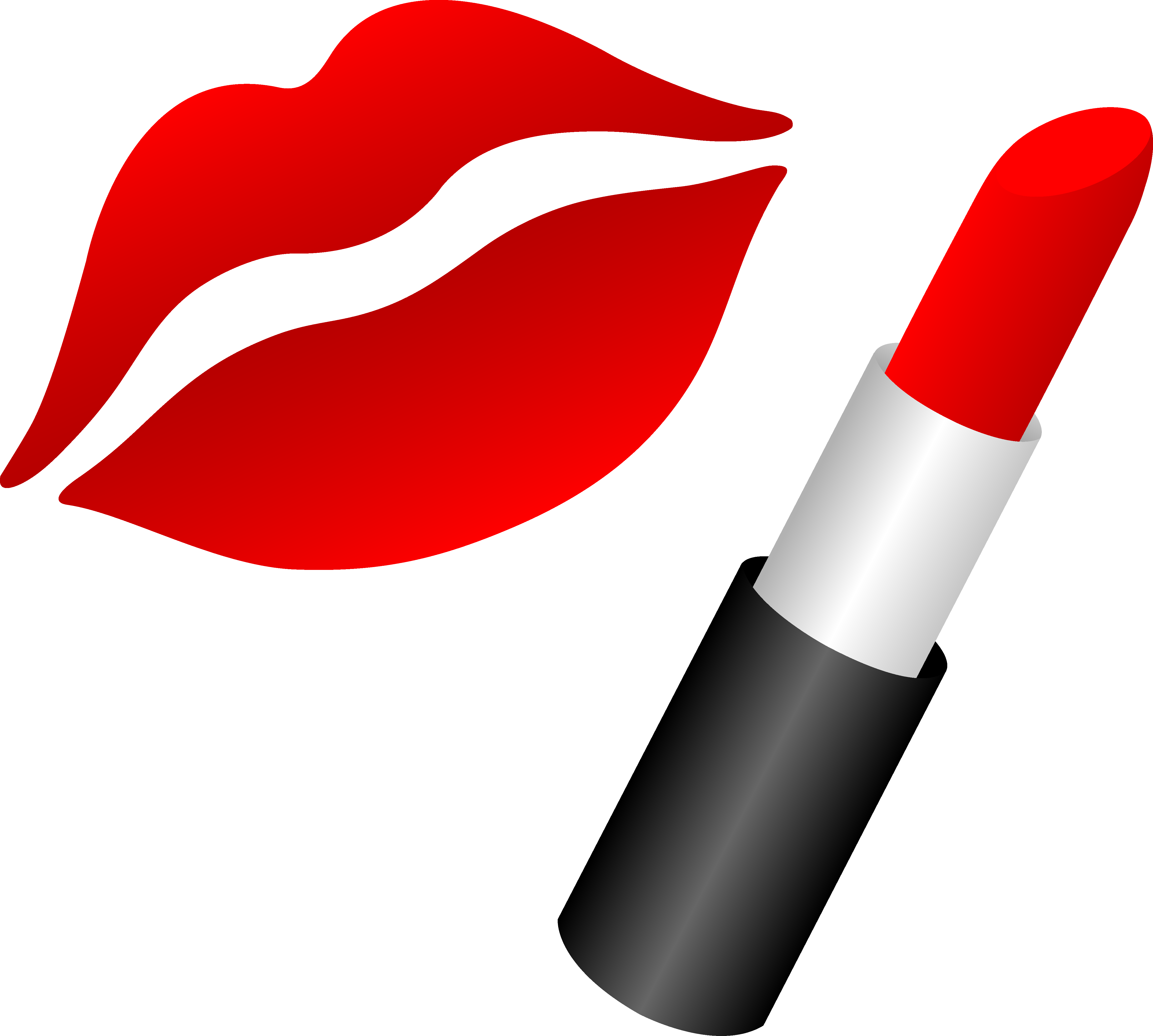 Rote Mascara Lips With Red Lipstick Free Clip Art Red Lips Lippen