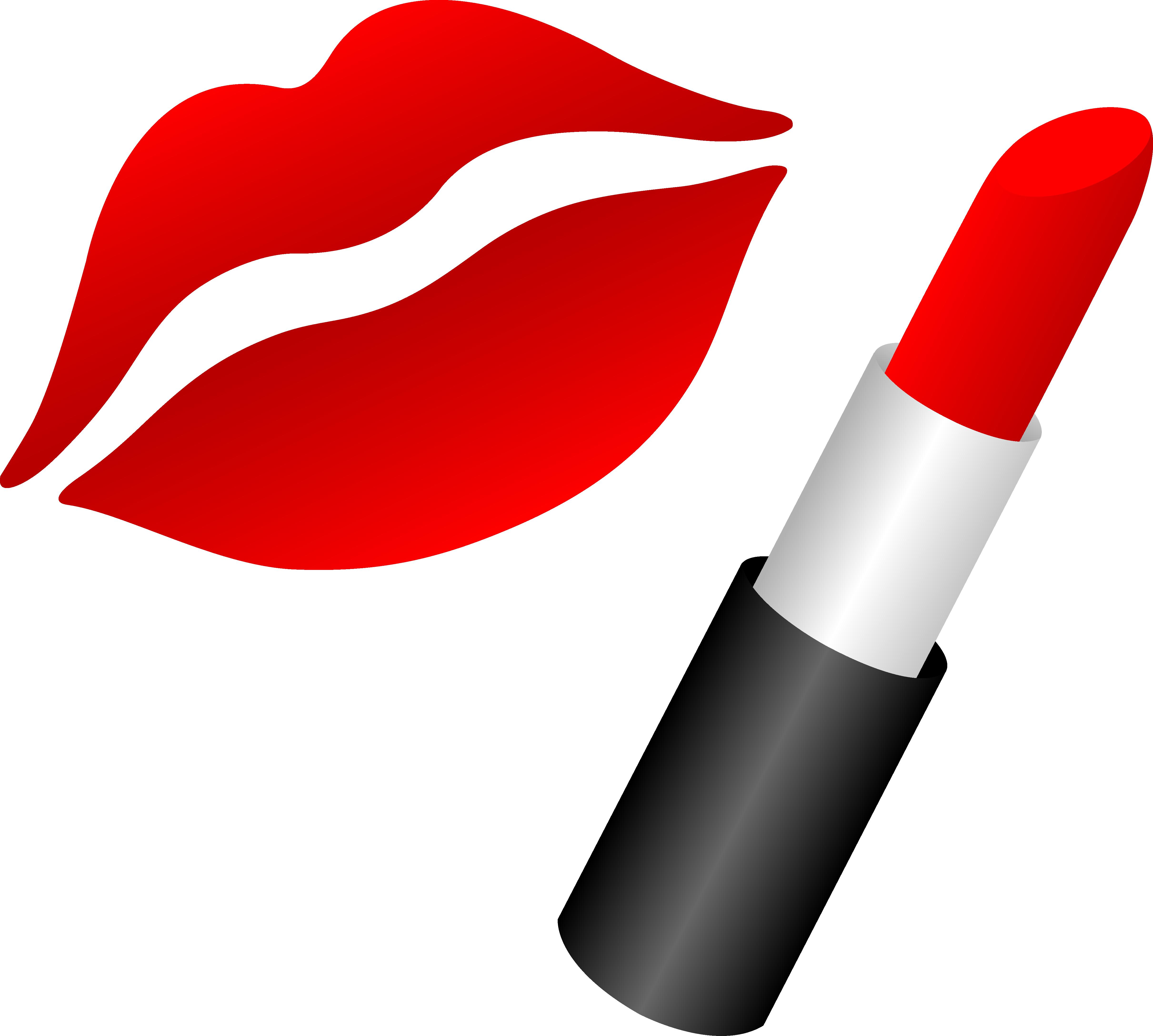 Lipstick Clipart Black And White