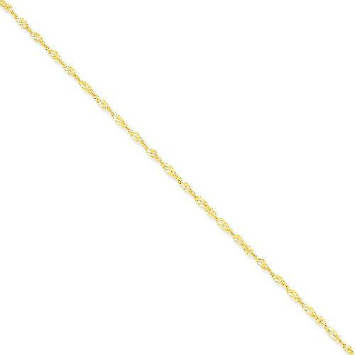 14k Gold 1.70mm Singapore Chain 10 Inches * To view further for this item, visit the image link.