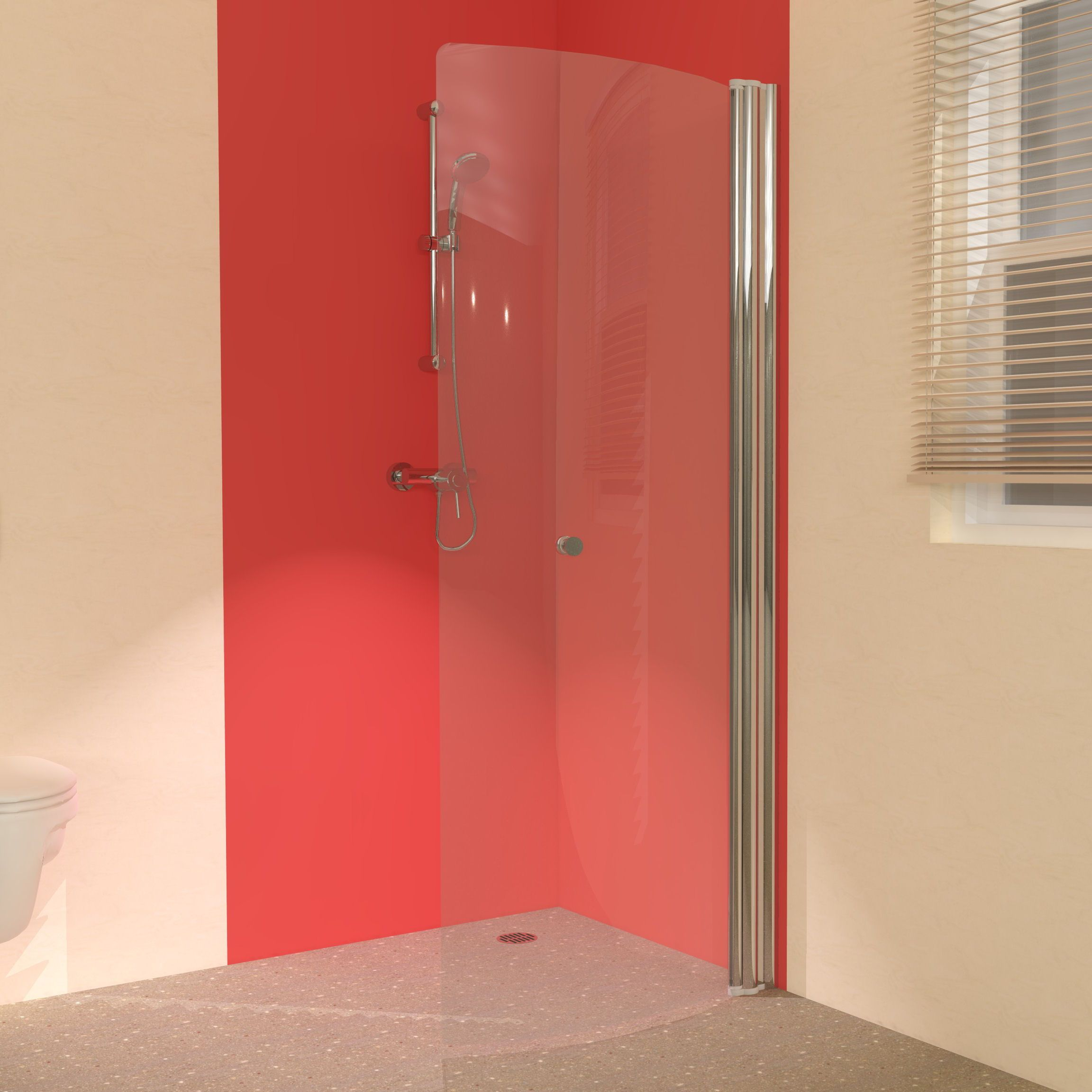 The Uniarc 850 Hinged Wet Room Shower Screen Please Visit