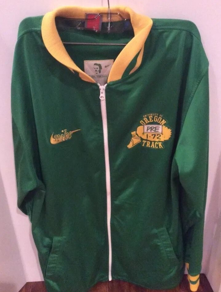 Nike Oregon Ducks Steve Prefontaine Full Zip Track Jacket PRE Lives Men s XL   Nike  CoatsJackets abb2bc7ab
