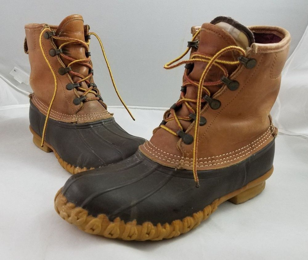 f7b47ebec15 Vintage LL Bean Boots Quilted GoreTex Thinsulate Leather Duck ...