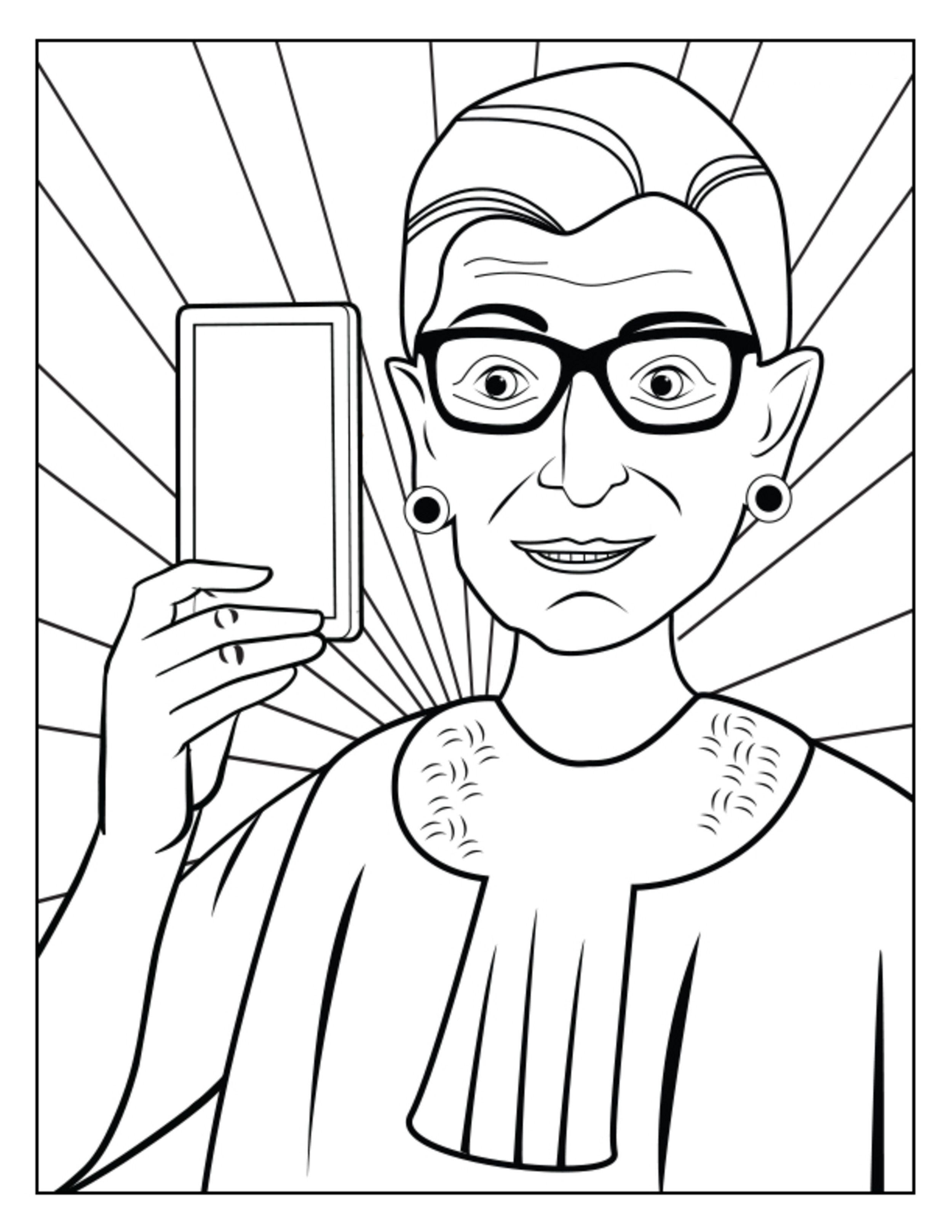 Ruth Bader Ginsberg Coloring Book