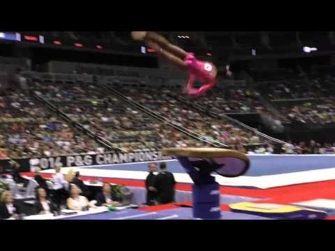 Margzetta Frazier - Vault - 2014 P&G Championships - Jr. Women Day 2 - YouTube