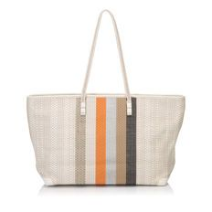 9ae001e1489e Fendi - Woven Leather Striped Shoulder Bag